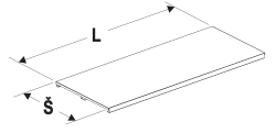 Police 625 U s držáku cenovkových lišt