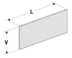 Zadní panel 625 děrovaný