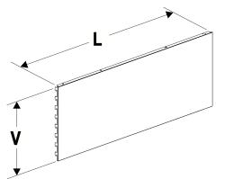 Zadní panel 625 plný