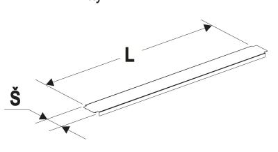 Krycí lišta gondoly 80/1250