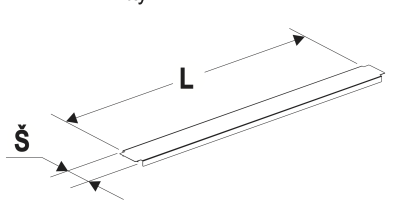 Krycí lišta gondoly 80/1330