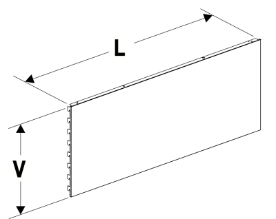 Zadní panel plný 625/100