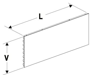 Zadní panel plný 625/400