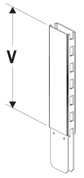Nástavec stojiny 80 x 30 x 600 mm