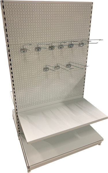Oboustranný (gondolový) regál 1700 mm - děrované zadní panely