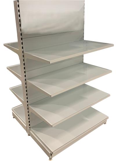 Oboustranný (gondolový) regál 1700 mm - plné zadní panely