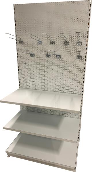 Oboustranný (gondolový) regál 2100 mm - děrované zadní panely