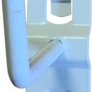 Háček do děrovaných panelů jednoduchý L-55 116°