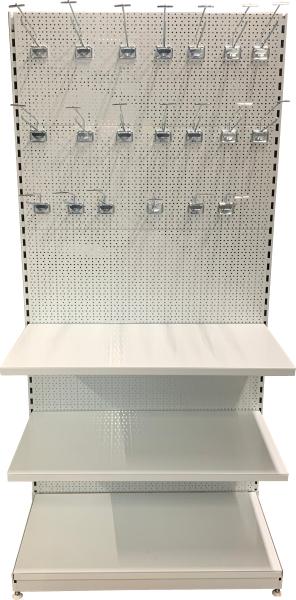 Jednostranný regál 2100 mm - děrované zadní panely