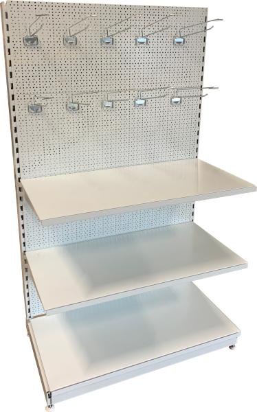 Jednostranný regál 1700 mm - děrované zadní panely