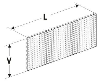 Zadní panel děrovaný 625/200